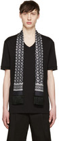 Dolce & Gabbana Black Bird Scarf T-Shirt