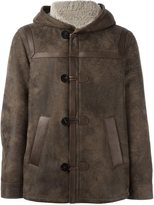 Neil Barrett hooded leather jacket - men - Lamb Skin/Lamb Fur - L