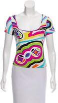 Emilio Pucci Abstract Print Scoop Neck T-Shirt