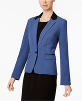 Nine West One-Button Two-Tone Blazer