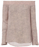 Derek Lam 10 Crosby Off Shoulder Printed Pink Blouse