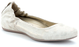 Earthies Off-White Leather Tolo Flat