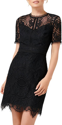 Ever New Brielle Short-Sleeve Mini Lace Dress