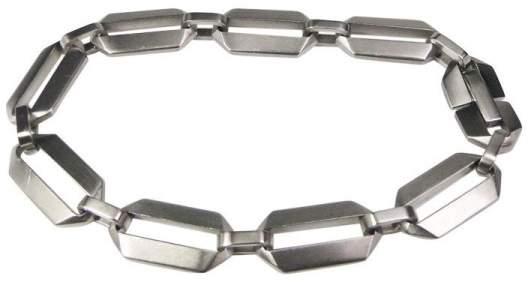 Tiffany & Co. Picasso Zellige Steel Link Razor Style Bracelet