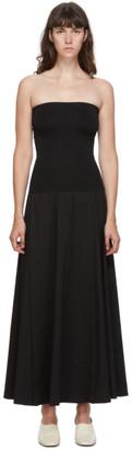 Esse Studios Black Strapless Maxi Dress