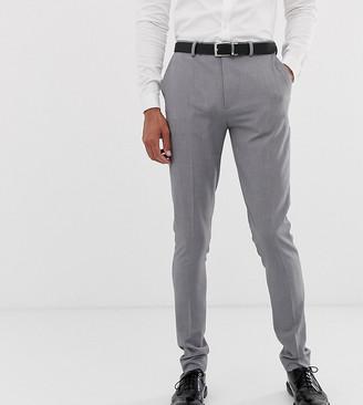 ASOS DESIGN Tall super skinny smart pants in gray