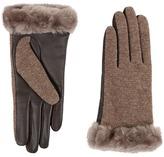 UGG Shorty Smart Fabric Gloves w/ Short Pile Trim