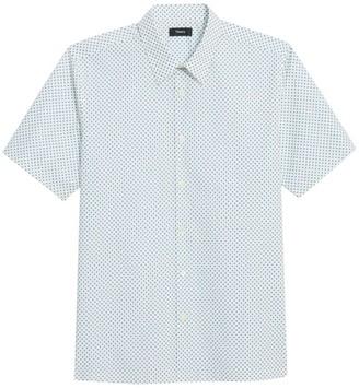 Theory Irving Short-Sleeve Dot-Print Shirt