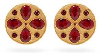Rebecca De Ravenel Pamina Swarovski-crystal Earrings - Womens - Red