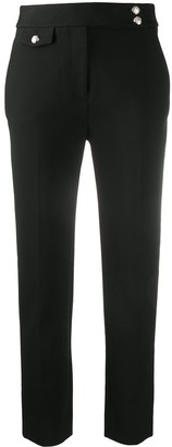 Veronica Beard High-Rise Slim-Fit Trousers