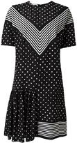 Stella McCartney dual pattern mini dress - women - Silk - 40
