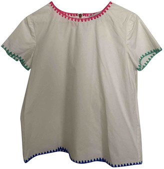 Mira Mikati White Cotton Tops