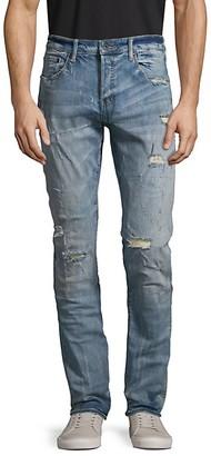 PRPS Le Sabre Slim Tapered-Fit Distressed Jeans