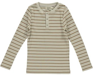 MarMar COMPENHAGEN - Trevor Tee Leather Stripe - 3Y