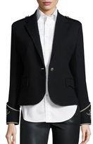 Polo Ralph Lauren Merino Wool Peplum Blazer