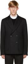 Wooyoungmi Navy Wool Jersey Blazer