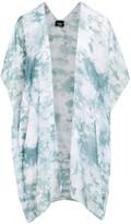 Lvs Collections LVS Collections Women's Kimono Cardigans GREEN - Green Tie-Dye Kimono - Women