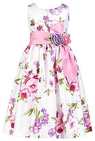 Jayne Copeland 7-12 Floral-Print Dress