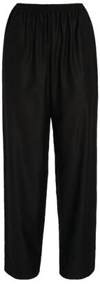 eskandar Wool-Silk Wide-Leg Trousers