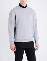 Balenciaga Logo-embroidered cotton-jersey sweatshirt