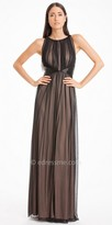 JS Boutique Pleated Chiffon Overlay Evening Dress