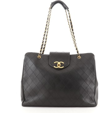 Chanel Supermodel Weekender Bag Quilted Leather Large