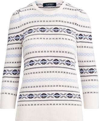 Ralph Lauren Fair Isle Puff-Sleeve Sweater