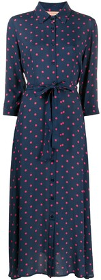 Andamane Polka-Dot Shirt Dress