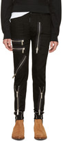 DSQUARED2 Black Zippered Military Jeans