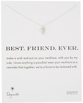 Dogeared Best. Friend. Ever. Pyramid Heart Reminder Necklace