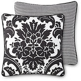 Rose Tree Symphony Damask & Houndstooth Reversible Sateen Square Pillow