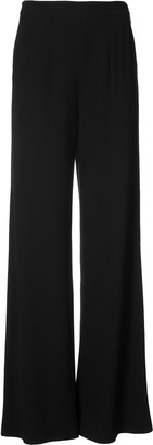 Josie Natori Plain Flared Trousers