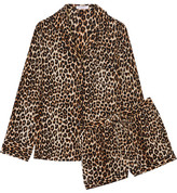 Equipment Lillian Leopard-print Washed-silk Pajama Set - Leopard print