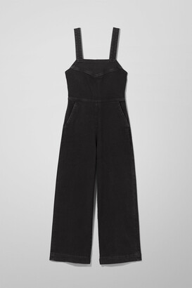Weekday Junip Denim Jumpsuit - Black