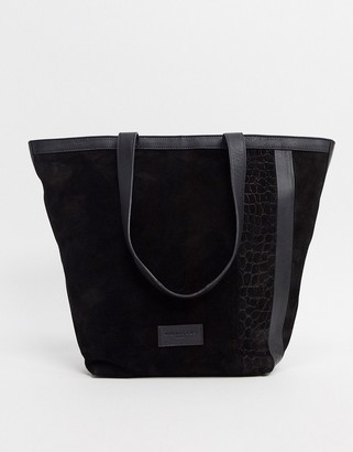 Urban Code Urbancode real leather and suede tote bag