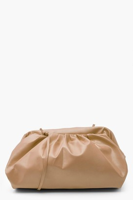 boohoo Slouchy Oversized PU Clutch & Strap Bag