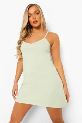 boohoo Strappy Low Back Swing Mini Dress
