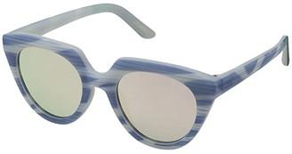 Toms Lourdes (Matte Infinity Blue Stripes) Fashion Sunglasses
