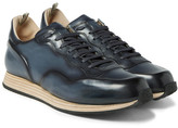 Officine Creative Keino Polished-Leather Sneakers