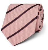 Kingsman - + Drake's 8.5cm Striped Silk And Cotton-blend Faille Tie - Pink