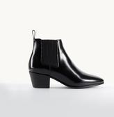 Maje Glacé leather flat ankle boots
