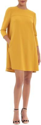 Donna Morgan 3/4 Sleeve Pocket Shift Dress