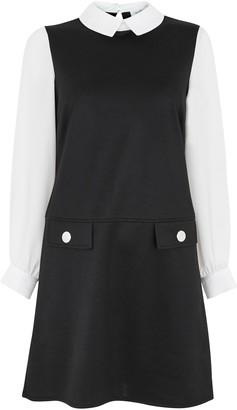 Wallis PETITE Monochrome 2 in 1 Shift Dress