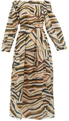 Marios Schwab Los Bajos Abstract-print Cotton Dress - Pink Multi