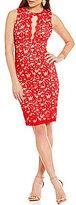 B. Darlin Sleeveless Lace Sheath Dress