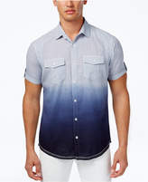 INC International Concepts I.N.C. Ombré Short-Sleeve Shirt, Created for Macy's