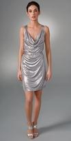 McQ - Alexander McQueen Metallic Drape Tank Dress
