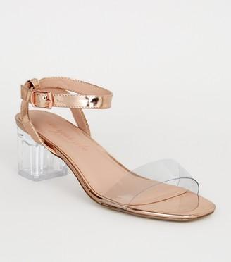 New Look lic Clear Strap Block Heels
