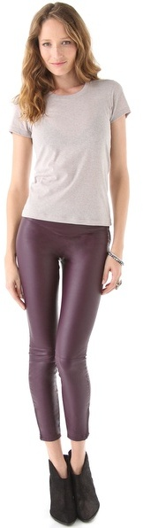 Blank Vegan Leather Leggings