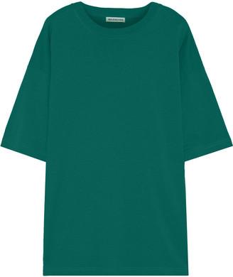 Balenciaga Oversized Embroidered Cotton-jersey T-shirt